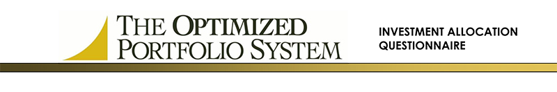 The Optimized Portfolio System Banner